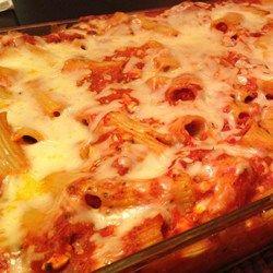 Easy Baked Mostaccioli - Allrecipes.com