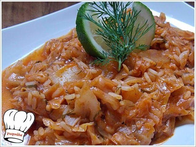 lachanoryzo (rice with cabbage) | deliciousrecipesofgogo