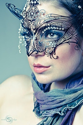I love this image. So romantic, and the mask is so effortlessly fabulous!