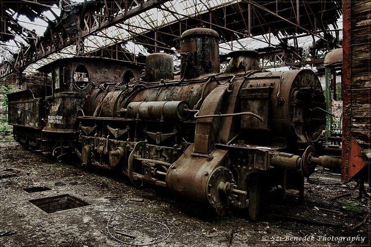 Abandoned Engine near Budapest, Hungary 02/03/2013