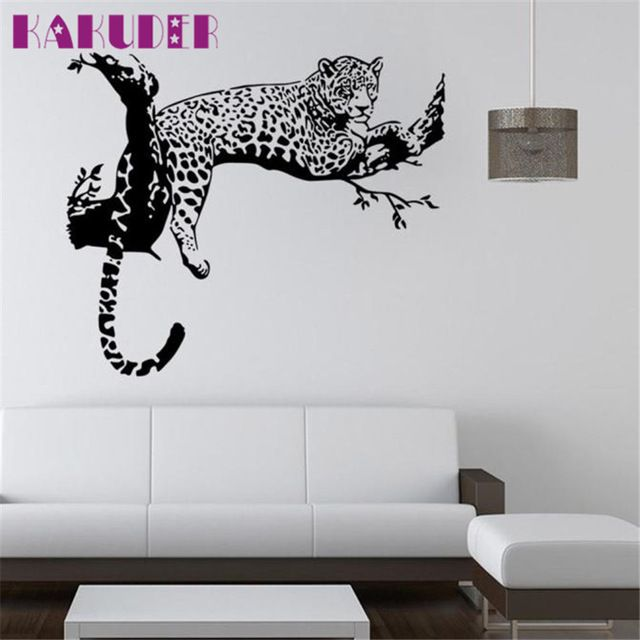 Buy now KAKUDER wall stickers for kids rooms decals home decor Leopard Wall Stickers Living Room adesivo de parede DROP SHIP just only $3.22 with free shipping worldwide  #wallstickers Plese click on picture to see our special price for you