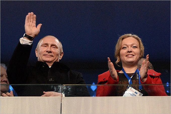 """""""WHO IS NEXT TO PUTIN ? """" It was one of the most popular questions during the opening ceremony . No sooner had the cameras show the president 's box , as people started guessing . And next to Vladimir Putin sat bobsledder Irina Skvortsova . This athlete and just a very strong person. Irina gone from professional sport in 2009, after injuries , including multiple fractures , obtained on the bobsleigh track in Germany."""