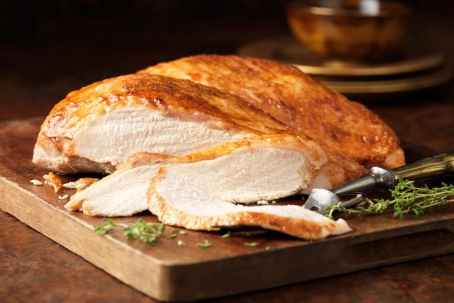 Roasted turkey breast is a great alternative to roasting a whole turkey. It cooks much faster (like about an hour) and is far more moist and juicy, too.