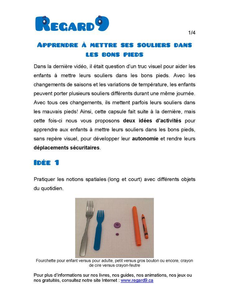 Les capsules informatives gratuites en ergothérapie (développement moteur) et de sensibilisation (développement social)| Regard9