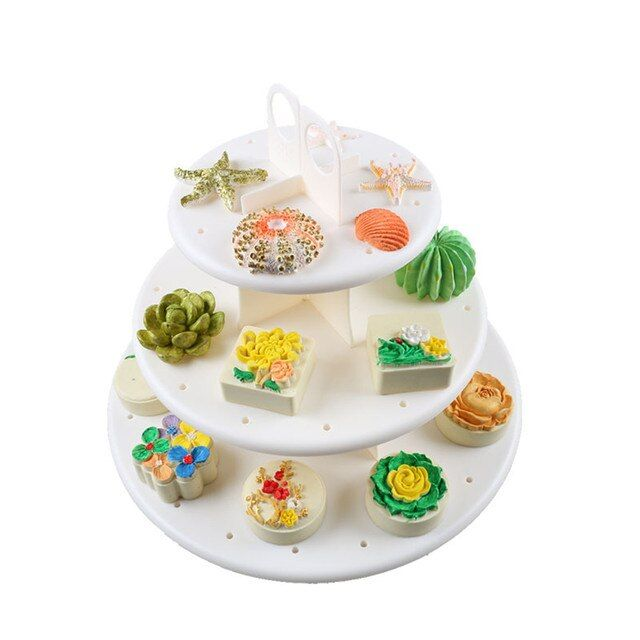 3 Tiers Round Cake Stand Rack Wedding Birthday Party Dessert Displa