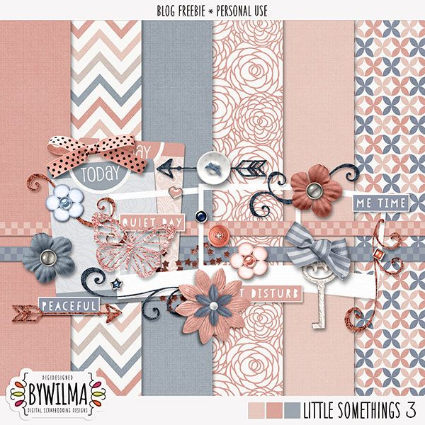 FREE Freebie: minikit Little Somethings vol. 3 by Wilma  (link available until 1 November 2016)