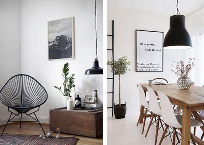 Elegantes lámparas negras + sorteo | Estilo Escandinavo