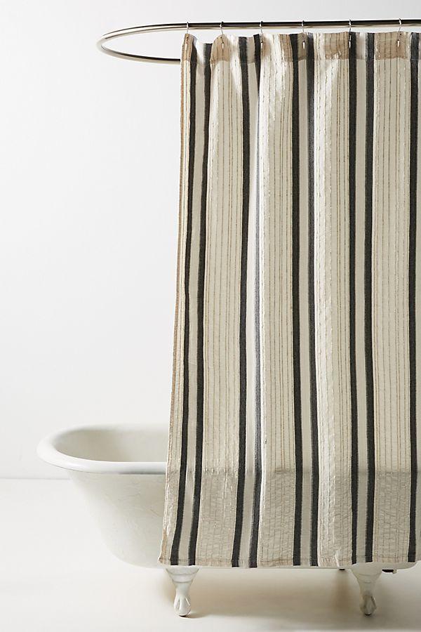 Woven Oliver Shower Curtain Boho Shower Curtain Bathroom Decor
