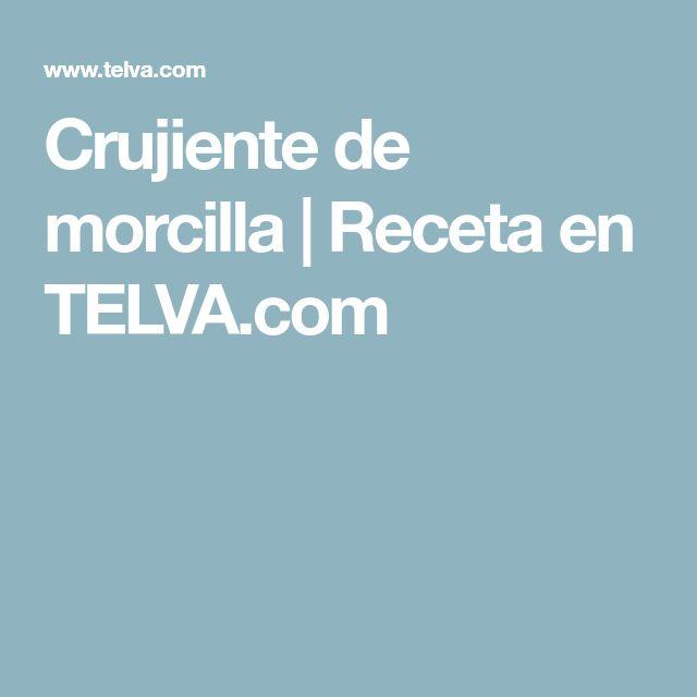 Crujiente de morcilla | Receta en TELVA.com