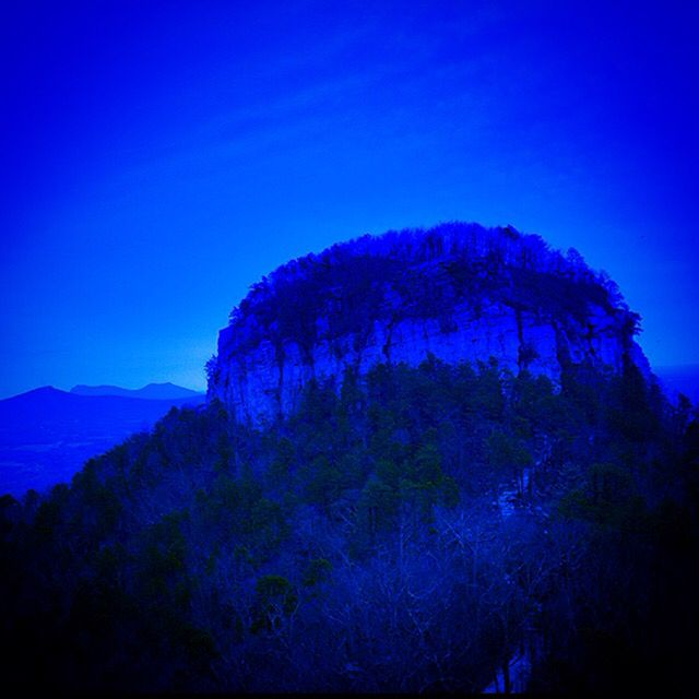 A picture I took of Pilot Mountain in 2014.