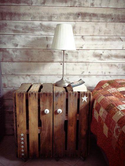 Pallette pallet bed table table de nuit tuto dans for Table de nuit en palette
