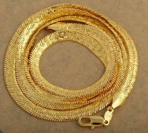 fully s inch extra asp chain link chains p flat solid men mens cast hallmarked gold in massive