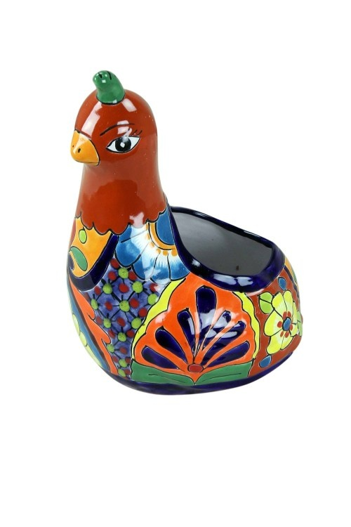 Talavera Pottery Tucson Quail Flower Pot Mexican