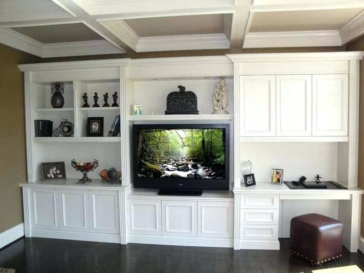 Terrific Wall Unit With Built In Desk Tv Cabinet Design Fireplace