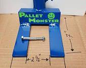 Pallet Monster Pallet Tool ** Heavy Duty** Custom Made Pallet Breaker BLUE *FREE SHIPPING*