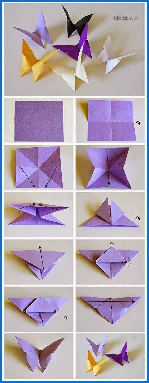 Origami: Origami Butterfly Instructions Raw Photo Sketches …