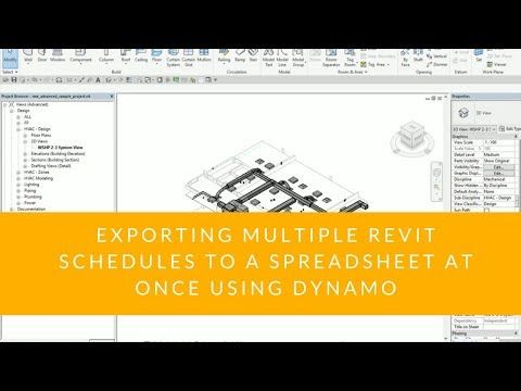 Exporting Multiple Revit Schedules to a Spreadsheet at Once Using