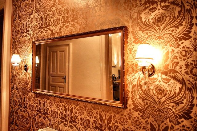Extravagant wall paper.