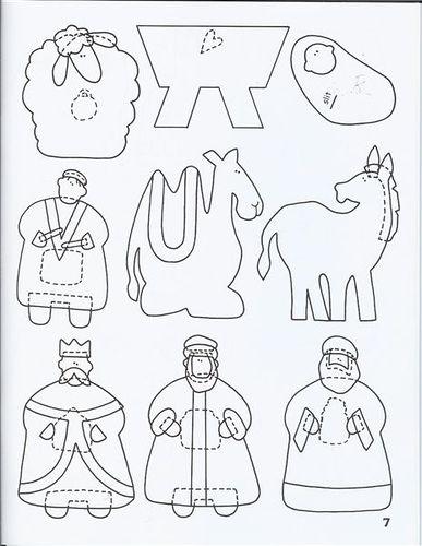 Molde Presépio de Feltro | Flickr – Compartilhamento de fotos!: Ems Feltro, Native Templates, Christmas Patterns, Felts, Christmas Native, Child Crafts, Natal Feltro Moldings, Christmas Felt Templates, Felt Native