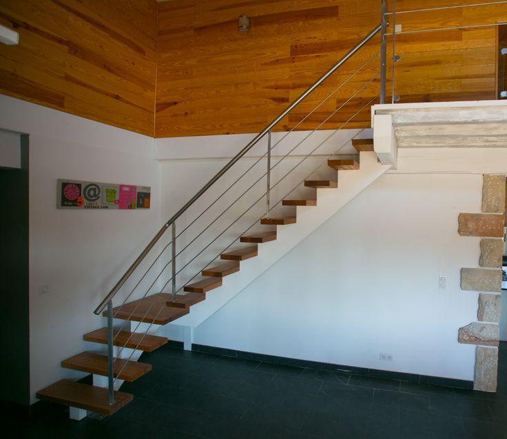 Bien connu Les 25 meilleures idées de la catégorie Escalier 1/4 tournant sur  OI05