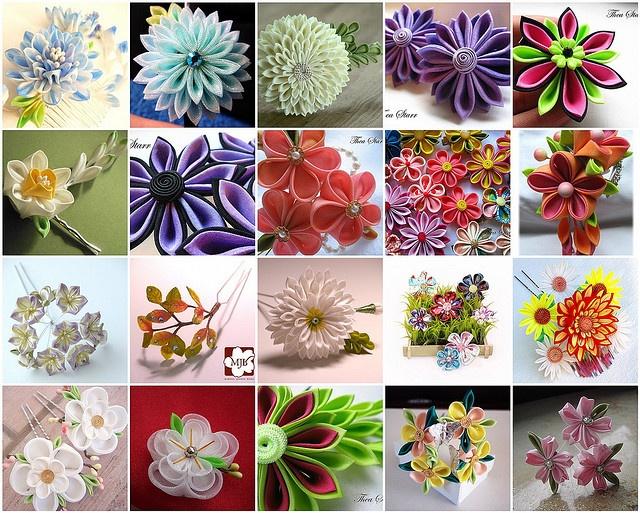 Gorgeous kanzashi flowers