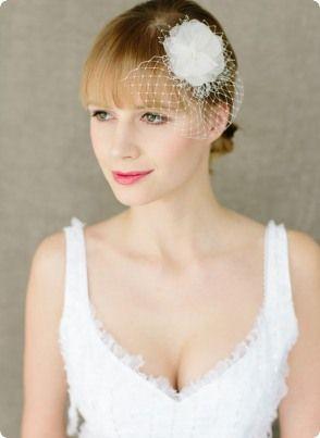 Braut haarschmuck mit schleier  25 besten Braut Birdcage & Fascinator | BelleJulie Bilder auf ...
