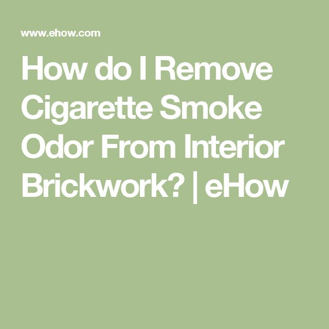 how to get rid of smoke odor in home