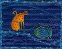 Quilted Postcard by Ilene Atkins
