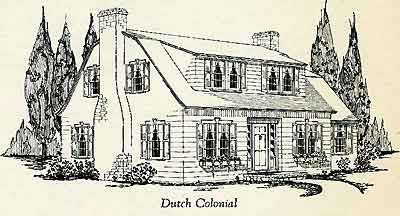 Dutch Colonial Drawing--Builders Home Catalog