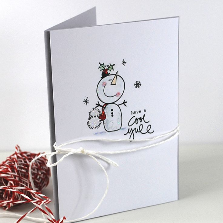 'Frosty Friends' printable Snowman Image Stamps.
