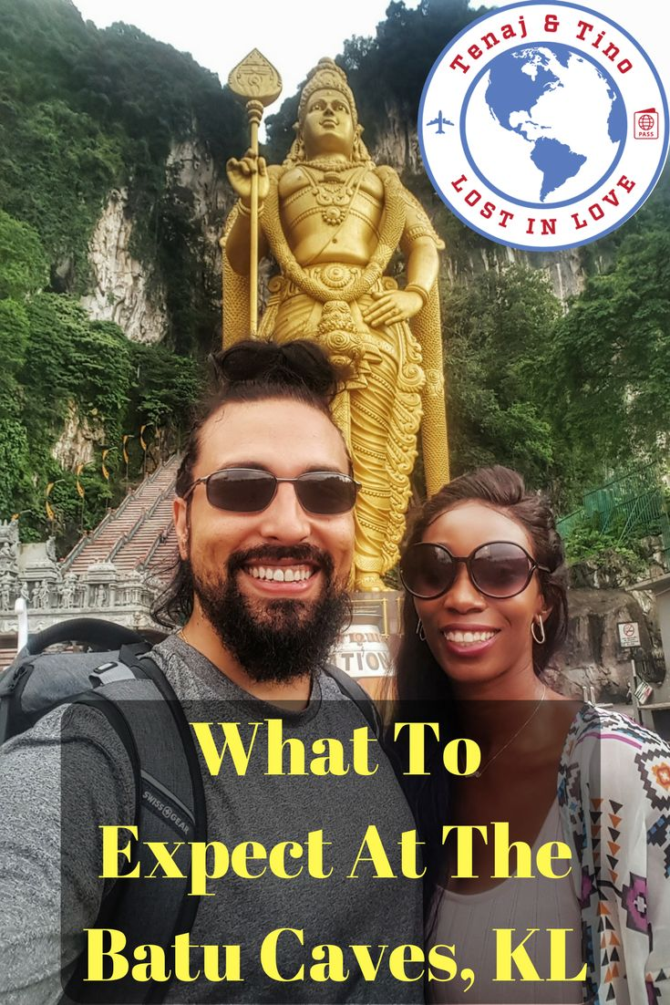 In Southeast Asia, Travel Couple, Tenaj and Tino, explore the Batu Caves in Kuala Lumpur. These limestone caves are about 400 years old! Follow us as we take you up the 400 step to see inside this holy Hindu sanctuary. We then visit, Ramayana Cave where the story of Lord Murugan, Gombak and Lord Hanuman are being told inside! Such a beahtiful place, full of history.