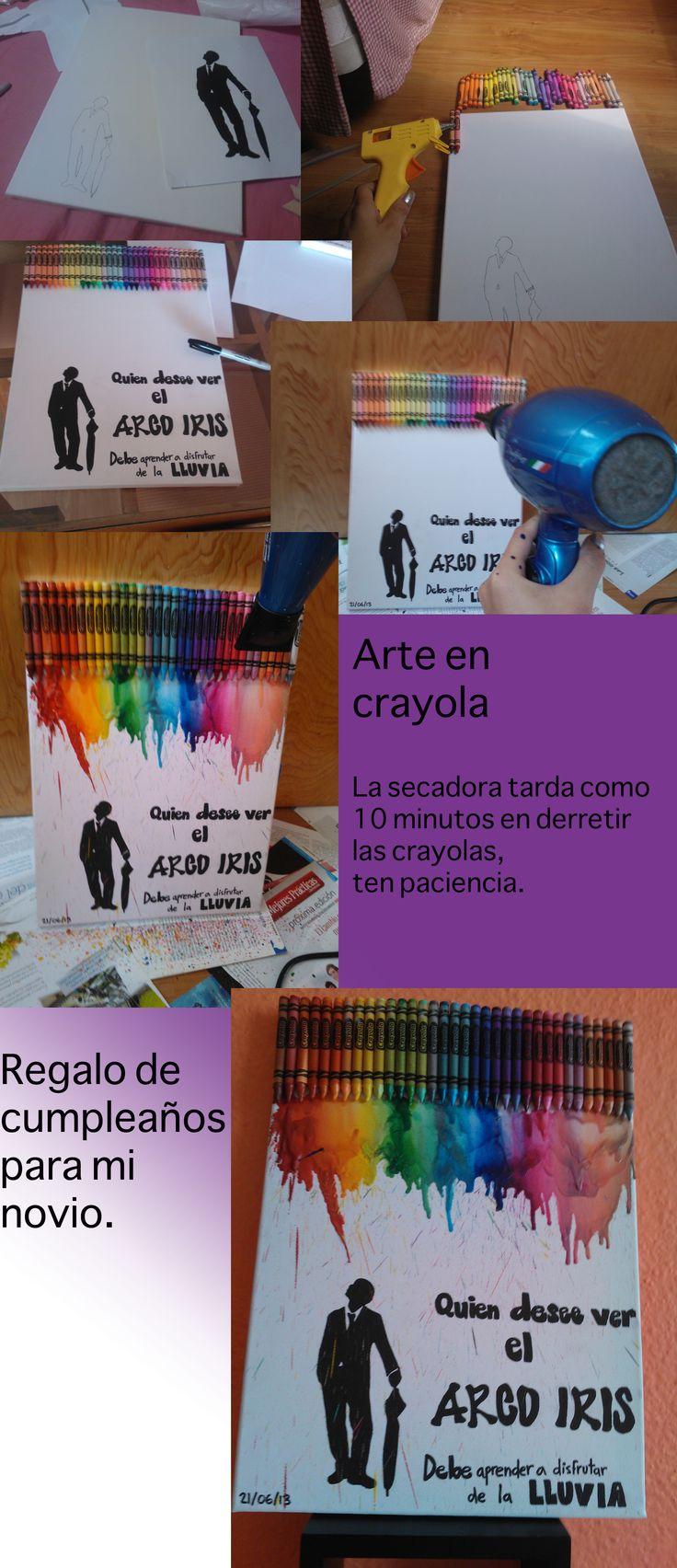 crayon art, arte en carola, draft, regalo, present, ideas, for my boyfriend birthday, para el cumpleaños de mi novio.