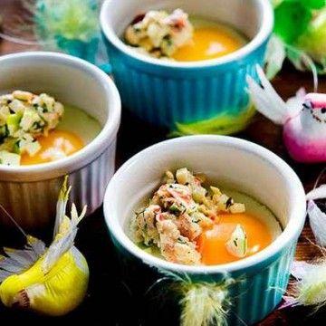 Äggcocotte med skagenröra - Recept - Tasteline.com