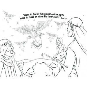 Christmas Coloring Page God