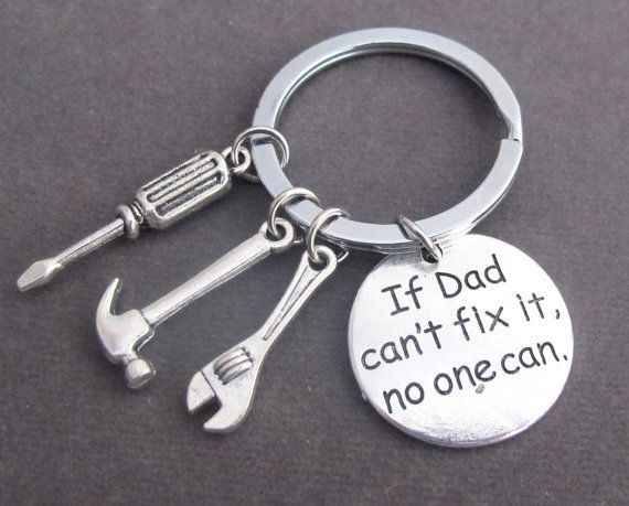 "US Ship /""If Dad Can/'t Fix It No One Can/"" Keychain Pendant Gift Tool Fathers Day"