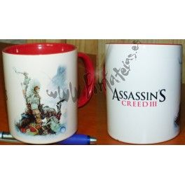 TAZA ASSASSIN'S CREED III roja