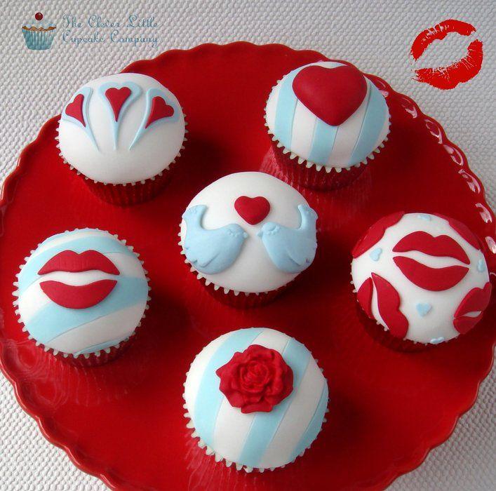 Modern Valentines Day Cupcakes