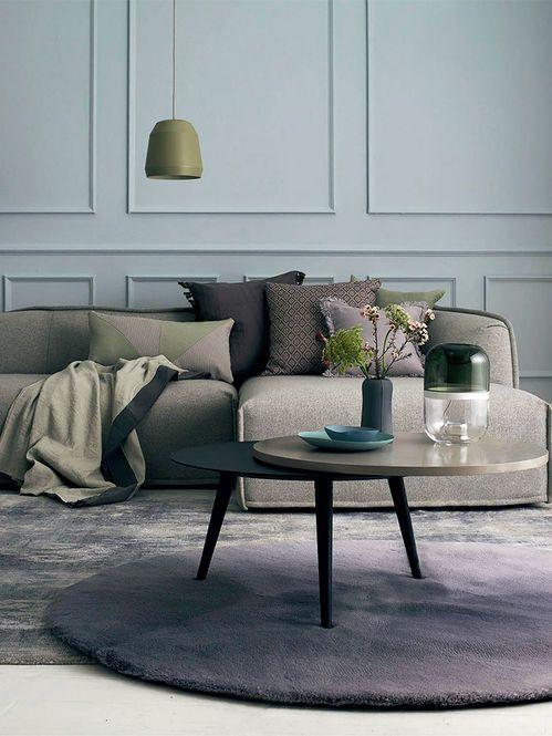 Ambiente em tons cinza, azul e verde Fotógrafo: Sean Myers  Fonte: Elle Decoration UK Abril 2013