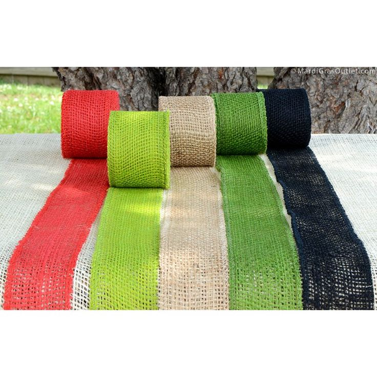 2.5-inch Burlap Ribbon, so many color options, so little time for craft projects!