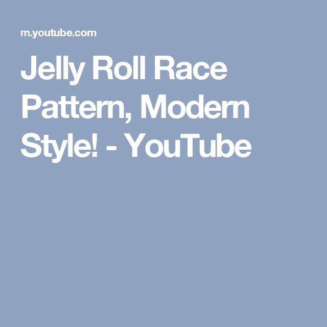 jelly roll race instructions