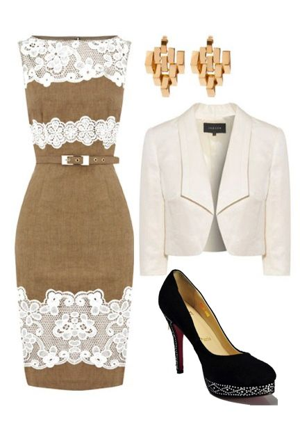 Perfect classic outfit - wonder if I could make this a bit more & for the  wedding?