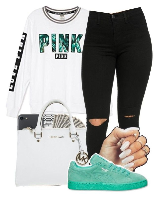"""Untitled #31"" by aaliyaharmstrong ❤ liked on Polyvore featuring Victoria's Secret, Calvin Klein and Michael Kors"