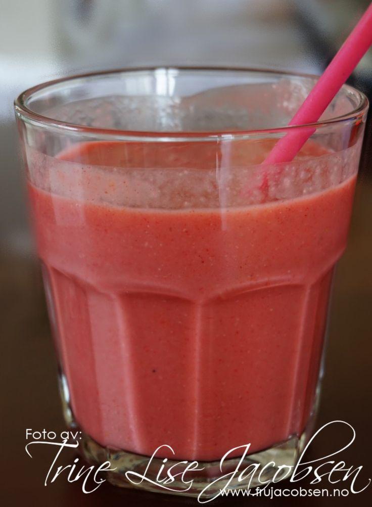 Jordbær- og vannmelonsmoothie » Fru Jacobsen