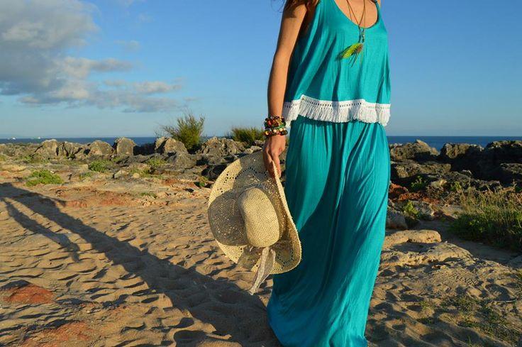 Maxi dress Turquesa
