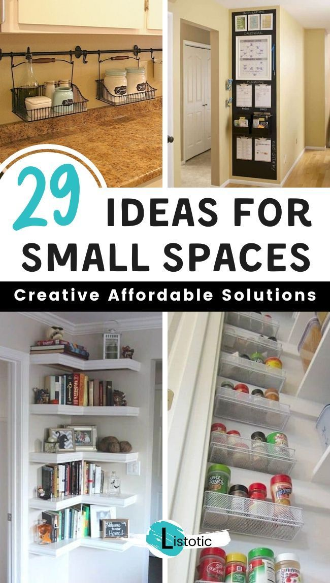 29 Sneaky Diy Small Space Hacks For Storage And Organization In 2020 Small Space Hacks Small Space Diy Small House Storage