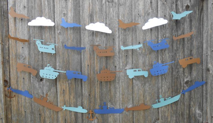 Military Vehicle Garland. CHOOSE Your VEHICLES & COLORS.  Custom Orders Welcome. Birthday, Welcome Home Decoration by TreeTownPaper on Etsy