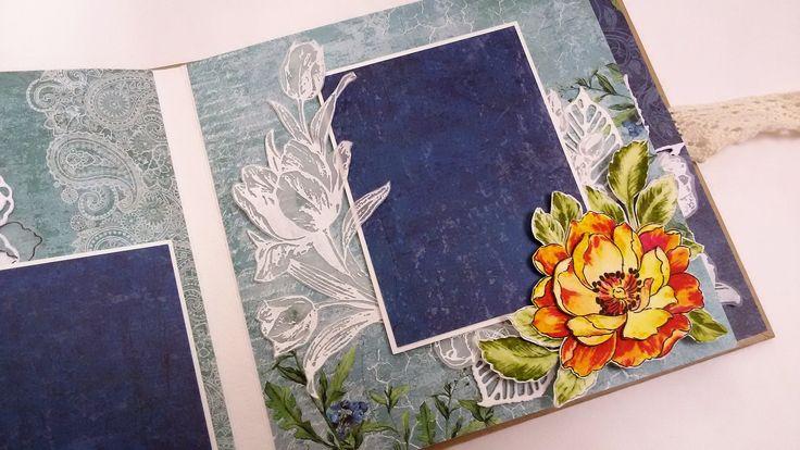 Скрапбукинг. Альбом с нуля. Обзор. Scrapbooking. Handmade. Scrapberrys. ...