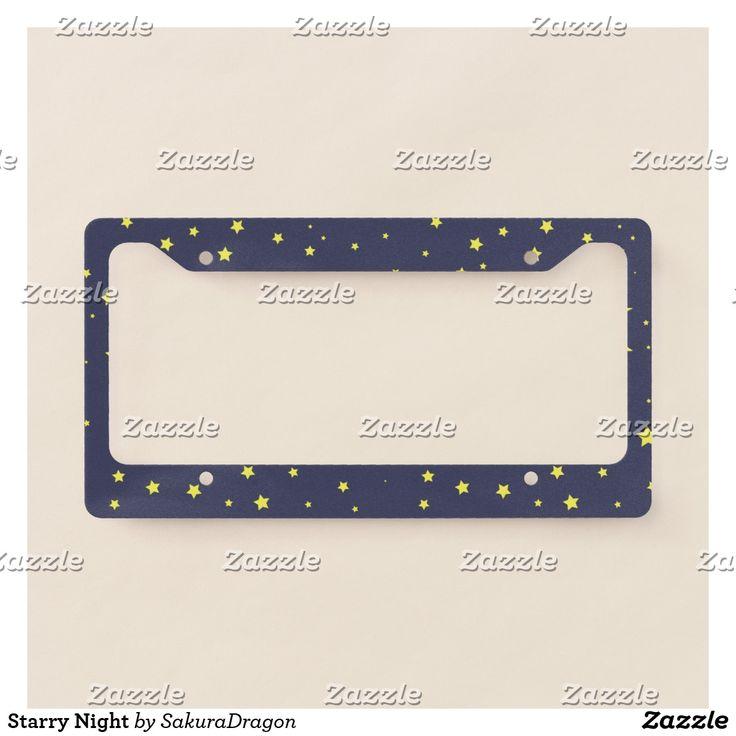Starry Night License Plate Frame #stars #moon #sky #night #nature