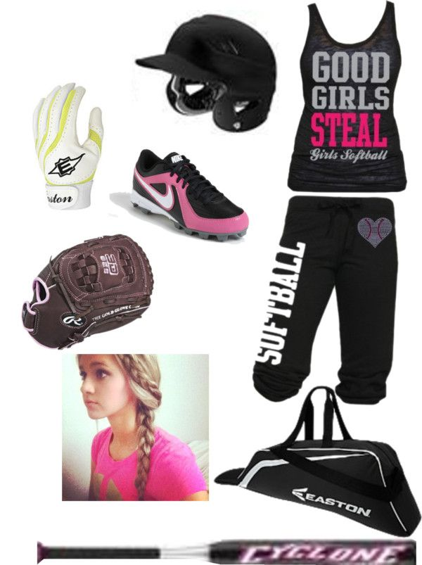 """""""softball practice3 miss the sport so much!!!):"""" by haleighbrown ❤ liked on Polyvore"""