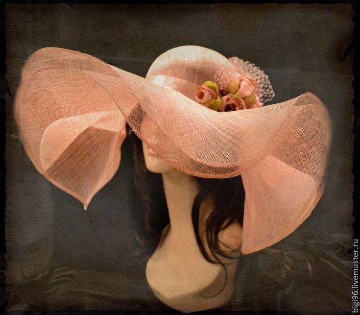 """Купить Шляпа летняя """"Чайные розы"""" - розовый, скачки, шляпа с полями, соломенная шляпка"""